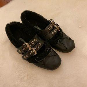 Miu Miu Fur Lined Ballet Flats